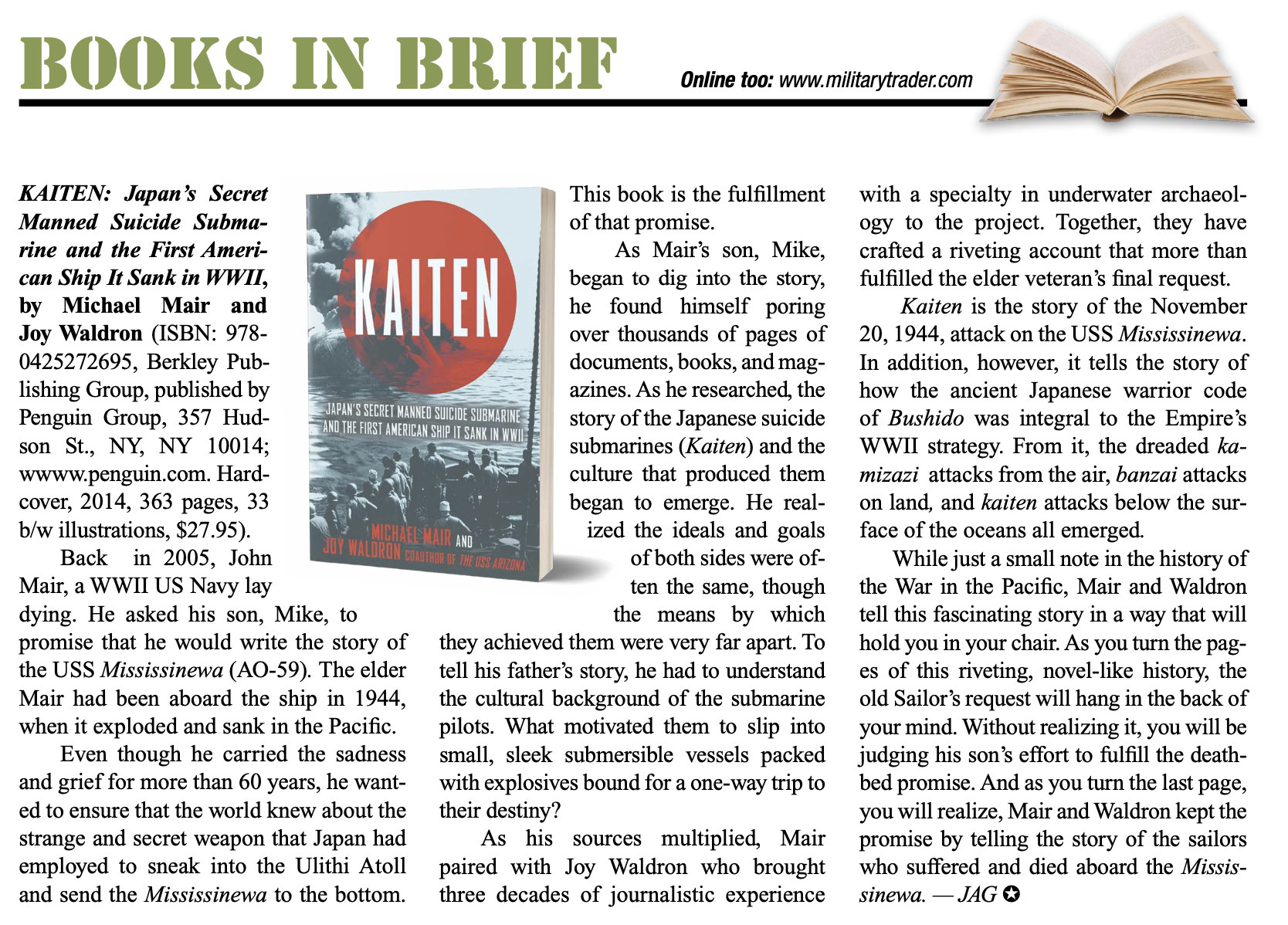 review of book, Kaiten.